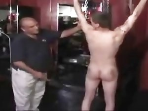 Jock gets his ass whipped bright red