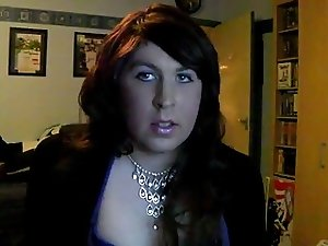 BBW Crossdresser Strips Jerks Cums