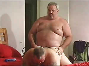 Two old fat bears in rimjob and blowjob sex tube
