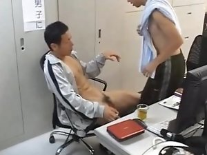Japanese gays playing in office