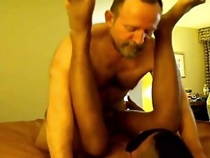 2 BIG hairy old DAD's use BLACK blindfolded boy TWINK