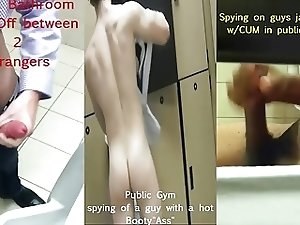 Spying on Kinky Men who Masturbate & Fucks in Public Toilets