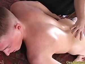 Amateur twink getting toyed at massage