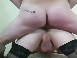 Fuck sissy husband in front his wife