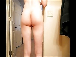 Booty Clapping, Spanking and two huge dildos