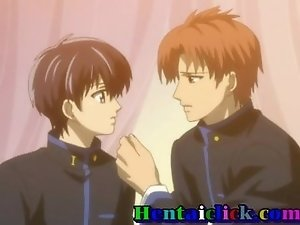 Uniform hentai gay twink having love and sex